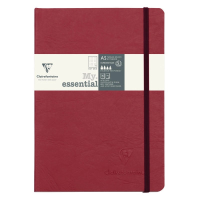 Clairefontaine my essential muistikirja a5/ 96 piste red ivory