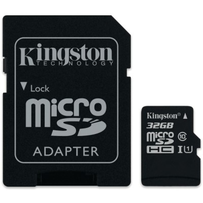 Kingston canvas select muistikortti microsdhc 32gb adapterilla