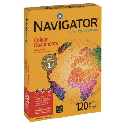 Kopiopaperi Navigator color document  a3 120g, 1kpl=500 arkkia