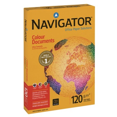Kopiopaperi Navigator color documents  a4 120g, 1kpl=250 arkkia