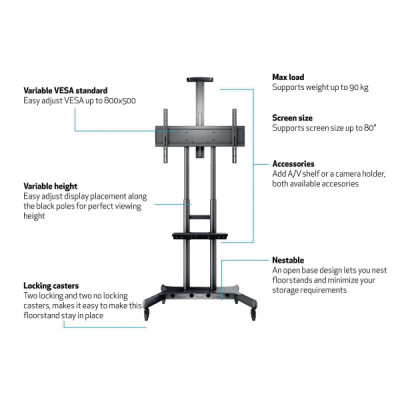 Multibrackets m public floorstand basic 180 teline
