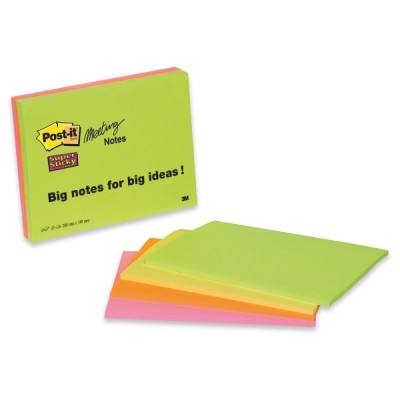 Post-it super sticky meeting notes viestilappu a5, 1 kpl=4 nidettä
