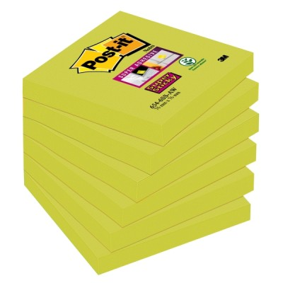 Post-it super sticky viestilappu 76x76mm parsanvihreä, 1 kpl=6 nidettä