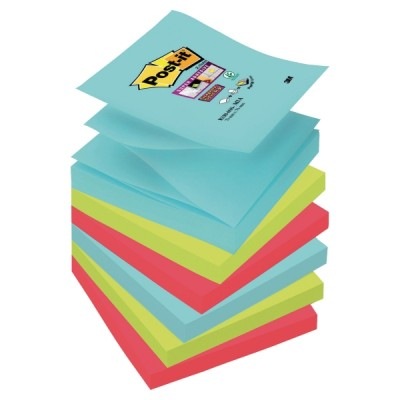 Post-it super sticky z-notes viestilappu miami 76x76mm, 1 kpl=6 nidettä