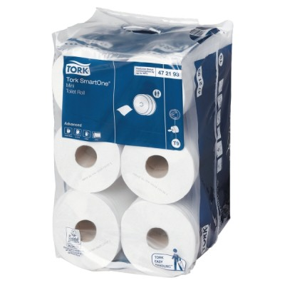Tork advanced smartone mini wc-paperi t9, 1 kpl=12 rullaa